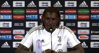 """Moise Kean riabbraccia la Juve e parla dell'errore sul gol a Napoli: """"Non sono stato fortunato"""""""