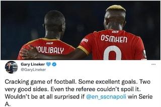 """Lineker impressionato dal Napoli: """"Non sarei sorpreso se vincesse la Serie A"""""""