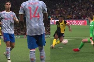 Esce Ronaldo, entra Lingard: la serata del Manchester United in una foto