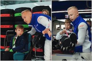 Il sogno di un bambino con paralisi cerebrale diventa realtà: pilota di Formula 1 grazie a Mazepin