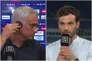 """Parolo festeggia con la Lazio, Mourinho lo sorprende in diretta TV: """"Complimenti per la vittoria"""""""