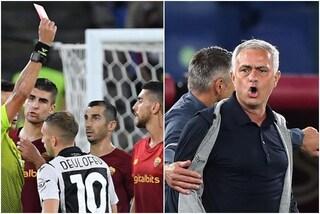 """Mourinho furioso per il rosso a Pellegrini: """"Espulsione ridicola, spero giochi il derby"""""""