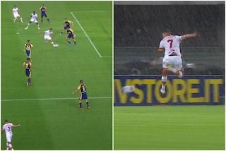 Pellegrini illumina la Roma con un bellissimo gol di tacco sotto il diluvio di Verona