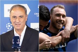 """""""Buona vita a Christian Eriksen"""": il gesto di classe di Sandro Piccinini prima di Inter-Real"""