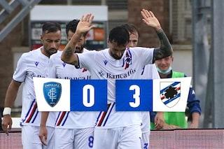 Doppio Caputo e Candreva: la Sampdoria vince ad Empoli in goleada