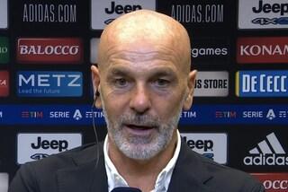 """Pioli protesta dopo Juve-Milan: """"Troppe chiacchiere, così in Europa è difficile"""""""