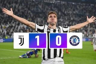Juventus in trincea, basta un lampo di Chiesa: battuto il Chelsea campione d'Europa