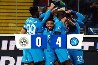 Napoli inarrestabile, 4-0 all'Udinese e primato solitario in Serie A
