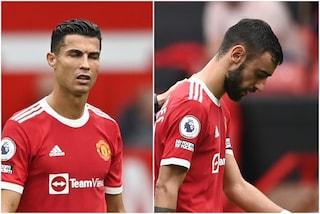 Caos al Manchester United: Ronaldo vuole tirare il rigore ma lo calcia Bruno Fernandes e sbaglia