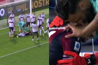 La grande sportività di Sirigu: ferma Soriano all'ultimo minuto e poi consola l'avversario