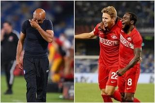 """Lo Spartak Mosca vince a Napoli e sfotte Spalletti: """"Ma che emozione"""""""