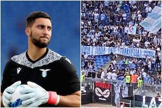 Strakosha si commuove per lo striscione dei tifosi della Lazio: parole che scaldano il cuore