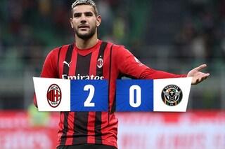 Theo Hernandez devastante: entra, assist e gol. Il Milan vince 2-0 sul Venezia