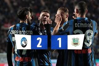 L'Atalanta batte il Sassuolo 2-1 in un match in stile Premier League