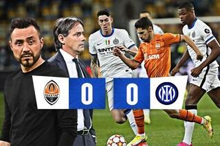 De Zerbi fa soffrire l'Inter, con lo Shakhtar è 0-0: il girone Champions parte in salita
