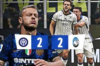 Gol, Var e finale thriller nel 2-2 tra Inter e Atalanta: Dimarco fallisce un rigore nel finale