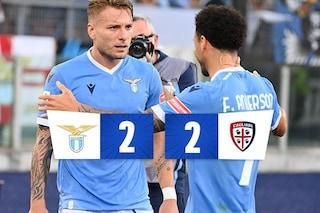 Cataldi salva Sarri contro l'ottimo Cagliari di Mazzarri: finisce 2-2