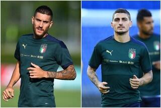 Pellegrini e Verratti lasciano il ritiro dell'Italia: Mancini perde i due centrocampisti