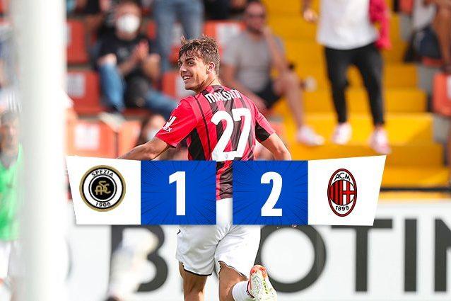 Brahim Diaz fa gioire il Milan nel finale, contro lo Spezia finisce 1-2: in gol anche Maldini