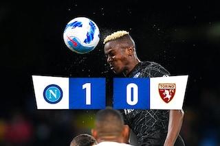 Osimhen è una sentenza, il Napoli vince ancora: 1-0 al Torino e risposta al Milan