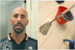 La giornata tipo di Borja Valero al Lebowski: pulisce gli spogliatoi e solleva fusti di birra