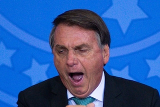 """Il presidente del Brasile Bolsonaro sbattuto fuori da Santos-Gremio: """"Non sei vaccinato"""""""