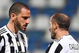 """Chiellini racconta il grande dolore: """"Con Bonucci ci sono rimasto tanto tanto male"""""""