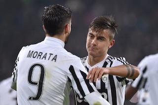 Le condizioni di Dybala e Morata a tre giorni da Juve-Roma: i due attaccanti sono ancora fuori