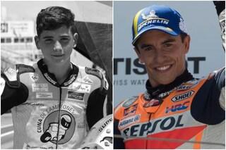 """Il toccante omaggio di Marquez al baby-pilota Hugo Millan morto ad Aragon: """"Lo avevo promesso"""""""