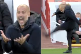 """Guardiola impazzisce in panchina in Liverpool-Manchester City: """"Sconcertante"""""""