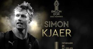 """Kjaer candidato per il Pallone d'Oro, il Milan lo esalta: """"Per noi hai vinto tu"""""""