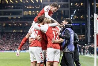 La marcia trionfale della Danimarca, che con dei numeri record si qualifica per i Mondiali 2022