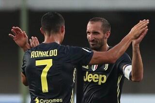 """Chiellini non ha gradito: """"Sarebbe stato meglio se Cristiano Ronaldo fosse andato via prima"""""""