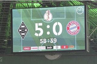 Disfatta epocale per il Bayern, prende cinque gol in un'ora: il Gladbach trionfa 5-0