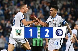 I cambi di Inzaghi sono magia, l'Inter ribalta il Sassuolo 1-2: Pairetto protagonista
