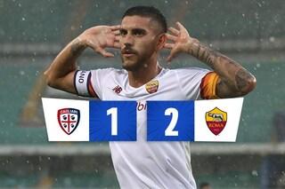 Perla di Pellegrini, la Roma si ritrova e vince in rimonta a Cagliari