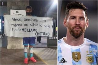 """""""Messi, mia mamma non sapeva quello che faceva"""": il bimbo chiede pubblicamente perdono"""