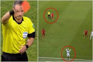 """Ritarda la rimessa laterale, l'arbitro lo espelle: la decisione che """"favorisce"""" la Svizzera"""
