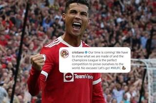 """Cristiano Ronaldo carica lo United in vista della sfida Champions con l'Atalanta: """"Niente scuse"""""""