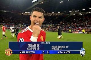 Ronaldo in trance agonistica: segna all'Atalanta, torna negli spogliatoi e manda un messaggio
