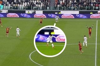 Il gol della Juve alla Roma era da annullare: l'errore di Orsato che (quasi) nessuno ha visto