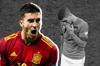Italia sconfitta dopo 37 partite, la Spagna ci dà una lezione di calcio: ko in Nations League