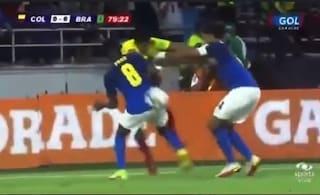 Fred e Marquinhos umiliati da Luis Diaz: lo spazio non c'è, la palla passa con una magia