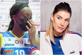 Paola Egonu si blocca in diretta TV: ha sentito la voce di Francesca Piccinini, scoppia a piangere