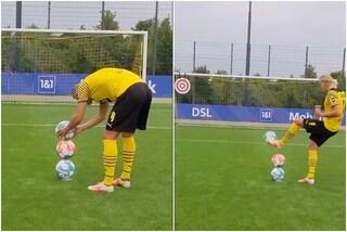 """Il video che mostra (quasi) tutta l'abilità di Haaland con il pallone: """"Questo è reale, fidati"""""""