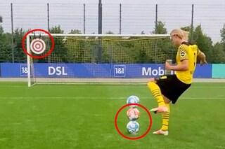 Il video di Haaland con tre palloni impressiona il mondo, ma è un fake: due errori nel montaggio