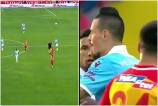 Hamsik segna un gol favoloso da centrocampo, ma l'arbitro lo annulla