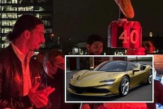 La festa di Ibrahimovic, invitati speciali e un regalo esagerato: quanto vale la sua nuova Ferrari