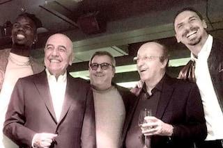 """Ibrahimovic con Moggi, Galliani e Raiola, una reunion speciale: """"Quell'uomo irradiava potere"""""""