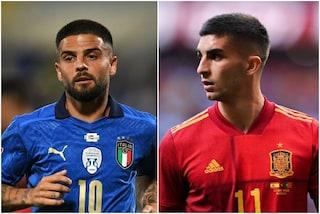 Lo strano caso di Mancini e Luis Enrique, Italia-Spagna si gioca senza centravanti